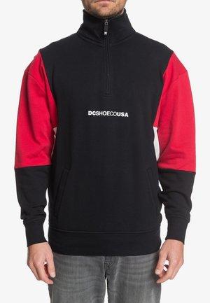 DC SHOES™ KIRTLAND - SWEATSHIRT MIT HALBREISSVERSCHLUSS FÜR MÄNNE - Sweater - black