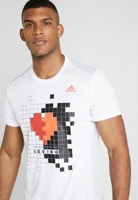 adidas Performance - OWN THE RUN TEE - Print T-shirt - white - 3