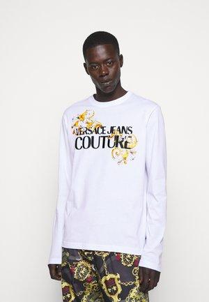 LOGO - Långärmad tröja - white/black/gold
