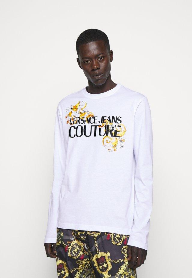 LOGO - Long sleeved top - white/black/gold