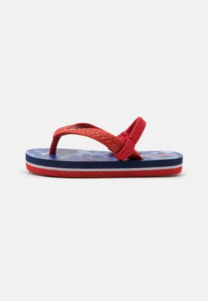 SOUTH BEACH CAMO UNISEX - T-bar sandals - navy/red