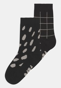 Papu - 2 PACK UNISEX - Ponožky - black - 0