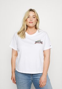 Tommy Jeans Curve - VINTAGE TEE - Print T-shirt - white - 0