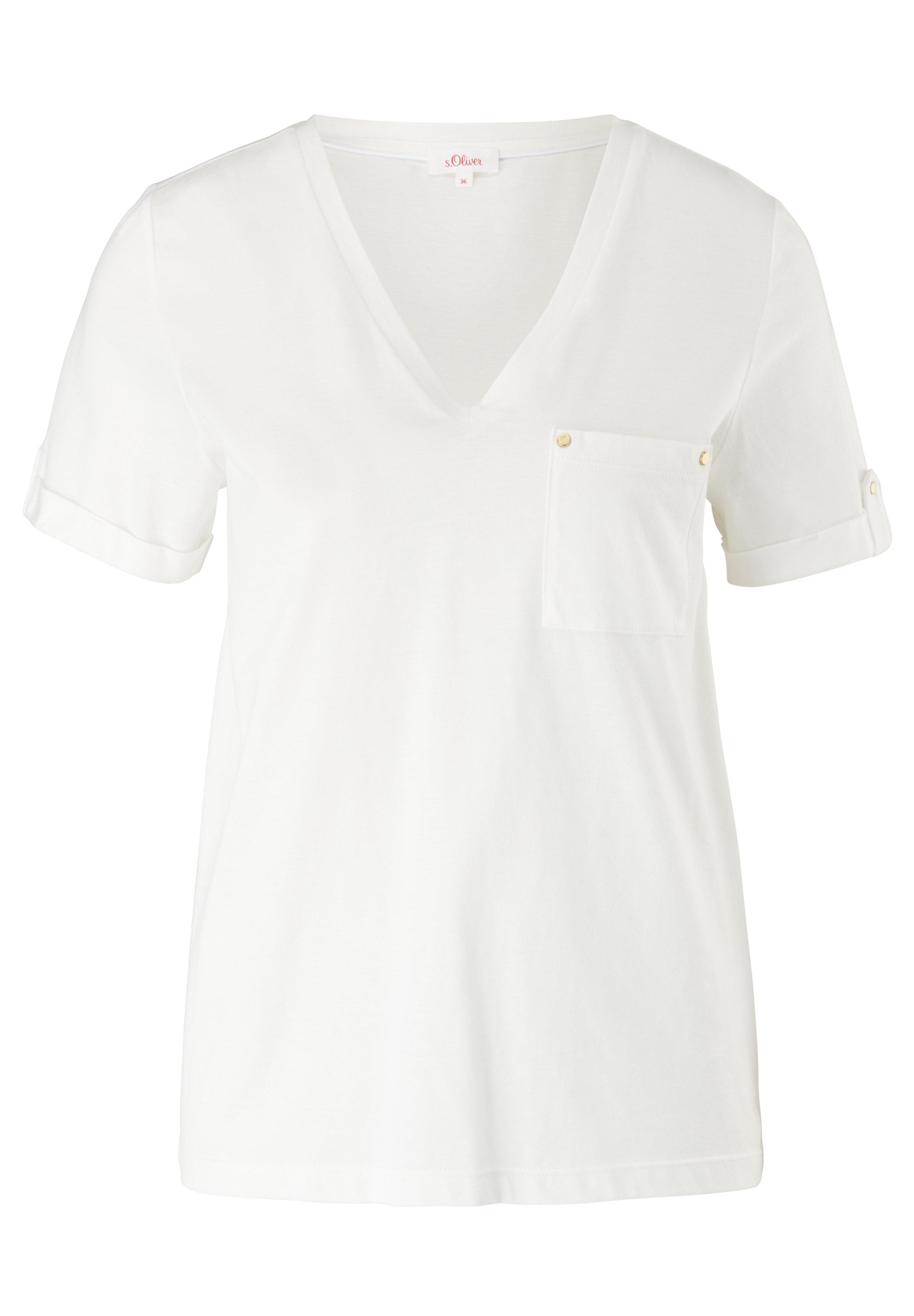Damen BRUSTTASCHE - T-Shirt basic