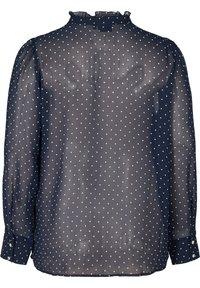 Zizzi - Button-down blouse - dark blue - 4
