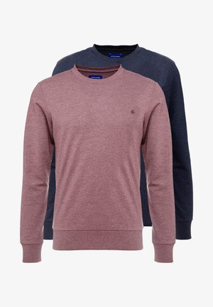 JORBASIC CREW NECK 2 PACK - Sweatshirt - total eclipse