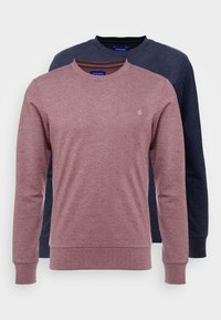 Jack & Jones - JORBASIC CREW NECK 2 PACK - Bluza - total eclipse