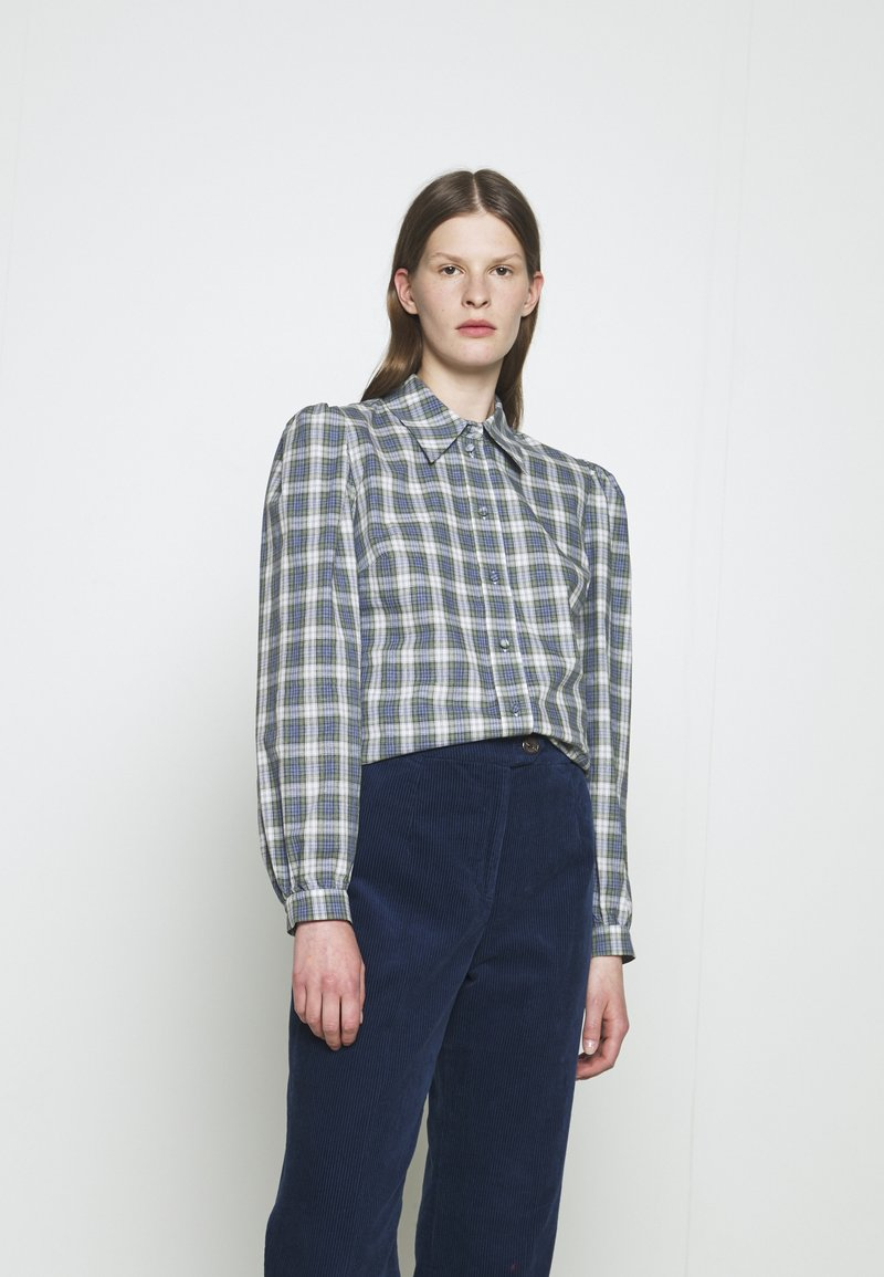 Alexa Chung - CLASSIC SLIM FIT SHIRT - Bluse - washed green/pale blue