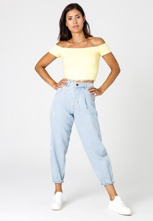Relaxed fit jeans - jeansblau