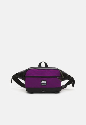 WAISTBAG L UNISEX - Bum bag - black/glory purple/white