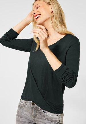 MIT KNOTENDETAIL - Long sleeved top - grün