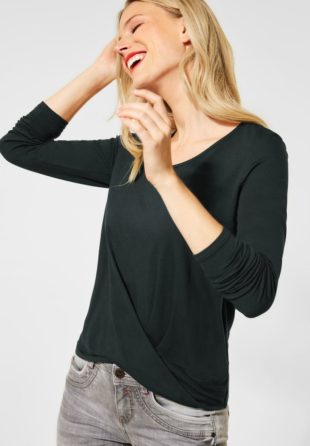 MIT KNOTENDETAIL - Long sleeved top - grün