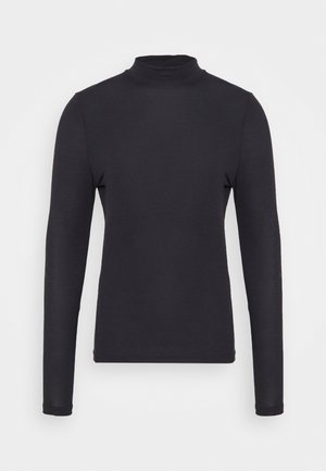 VIKKI - Long sleeved top - charcoal brown melange