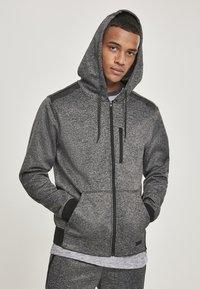 Southpole - HERREN MARLED TECH FLEECE FULL ZIP HOODY - Zip-up hoodie - marled grey - 0