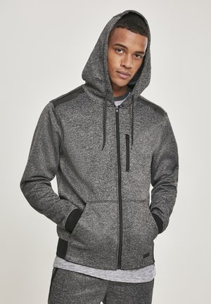 HERREN MARLED TECH FLEECE FULL ZIP HOODY - Zip-up hoodie - marled grey