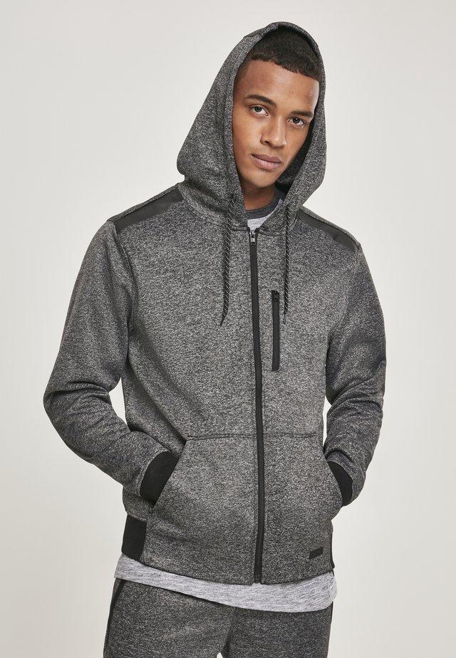 HERREN MARLED TECH FLEECE FULL ZIP HOODY - veste en sweat zippée - marled grey