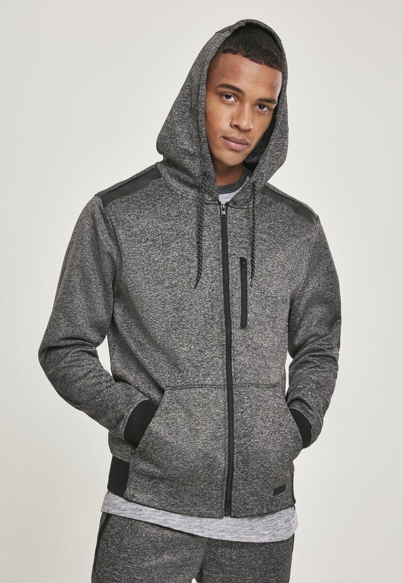 Southpole - HERREN MARLED TECH FLEECE FULL ZIP HOODY - Zip-up hoodie - marled grey