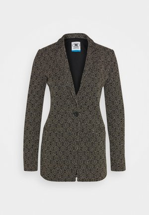 JACKET - Blazer - black/silver/gold