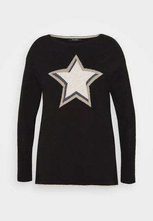 STAR JUMPER - Pullover - black