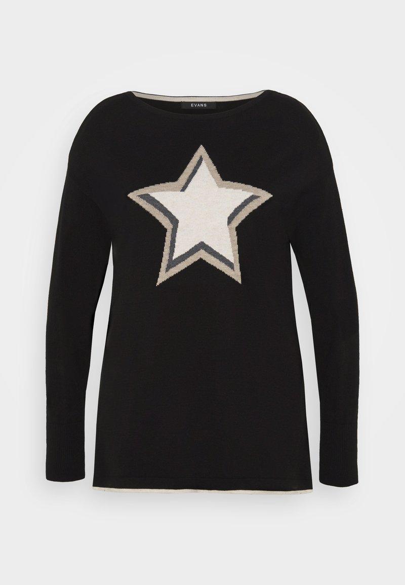 Evans - STAR JUMPER - Pullover - black