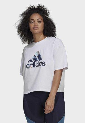 W UFORU  T - T-shirt imprimé - white