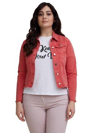 STRETCH - Denim jacket - arancione