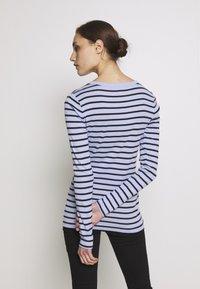 GAP - CREW - Topper langermet - blue stripe - 2