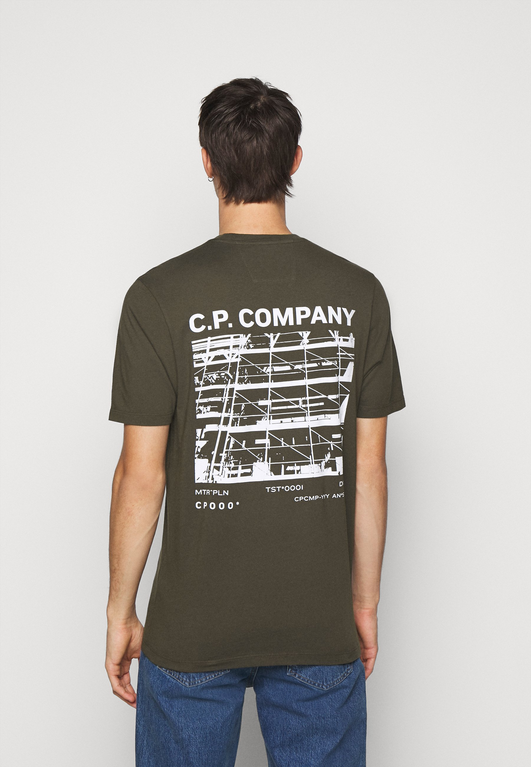 C.P. Company SHORT SLEEVE - Print T-shirt - ivy green qG83t