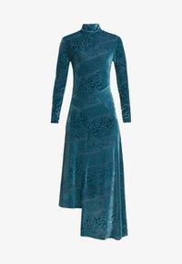 House of Holland - SNAKE DEVORE ASYMMETRIC DRESS - Occasion wear - teal - 4