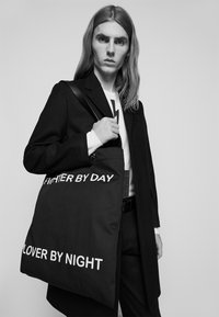 Neil Barrett - FIGHTER BY DAY LOVER BY NIGHT TOTE BAG UNISEX - Tote bag - black/white - 1