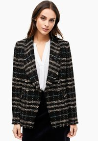 s.Oliver BLACK LABEL - MET FRANJES - Blazer - black check - 0