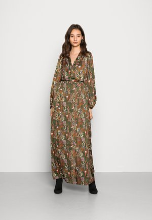 PRINTED WRAP OVER DRESS - Day dress - combo