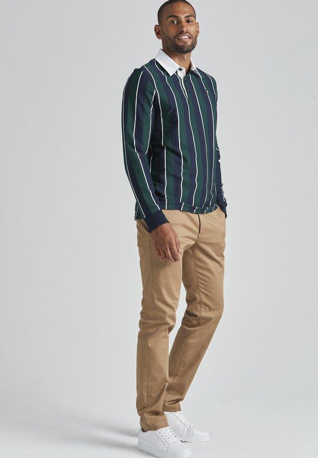 Sweater - dk green stripe