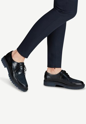 Lace-ups - navy pat/suede