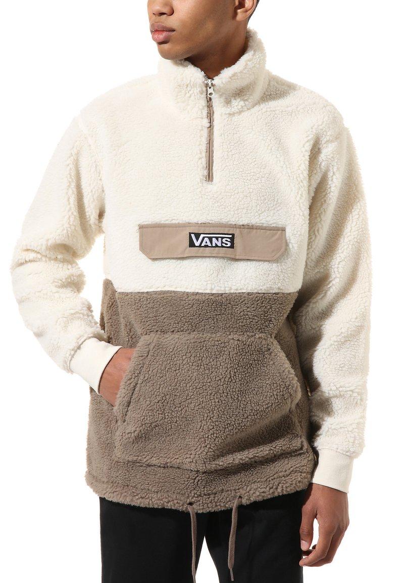 Vans - MN SHERPA - Fleece jumper - desert taupe/antique wht