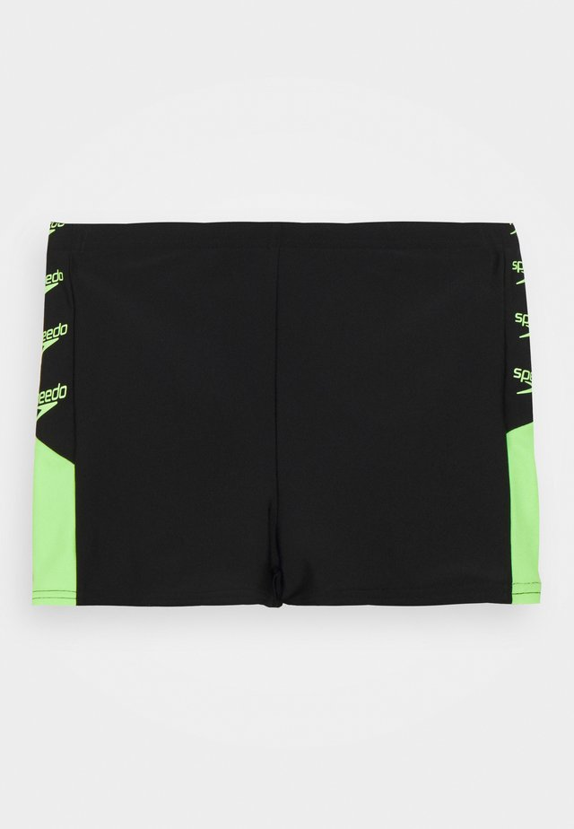 BOOM LOGO SPLICE AQUASHORT - Swimming trunks - black/zest green
