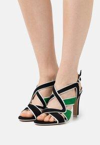 Cosmoparis - ZOLI - Sandals - noir/vert - 0