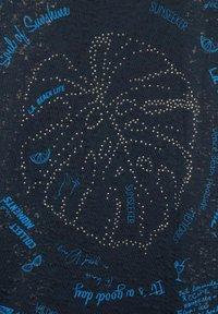 Cecil - MIT BURNOUT-OPTIK - Print T-shirt - blau - 4