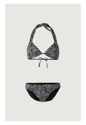 Bikini - black aop w/ green