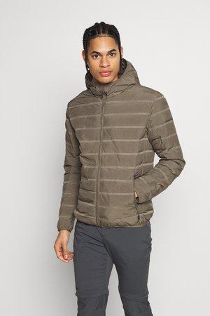 MAN JACKET FIX HOOD - Outdoor jacket - wood