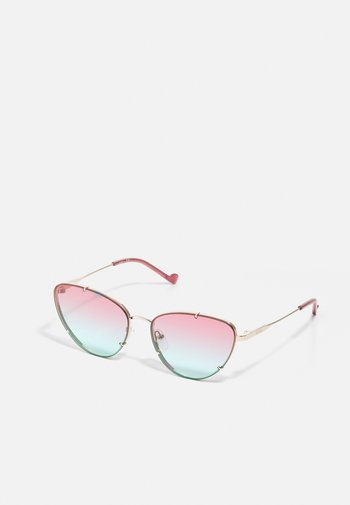 Sunglasses - shiny gold-coloured