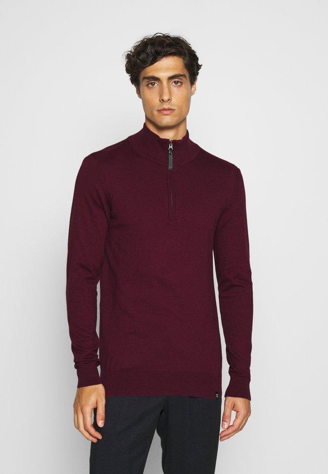 ANACONA - Stickad tröja - zinfandel