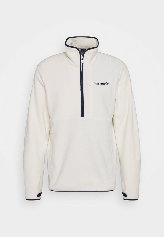 WARM HALFZIP  - Fleece jumper - offwhite
