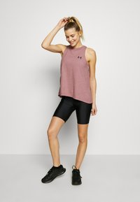 Under Armour - CHARGED TANK - Sportshirt - hushed pink/white - 1