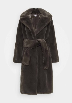BELLA BELTED COAT - Abrigo - charcoal