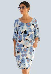 Alba Moda - Day dress - hellblau,koralle - 0