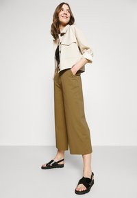 Even&Odd - Wide cropped leg Chino - Trousers - camel - 3