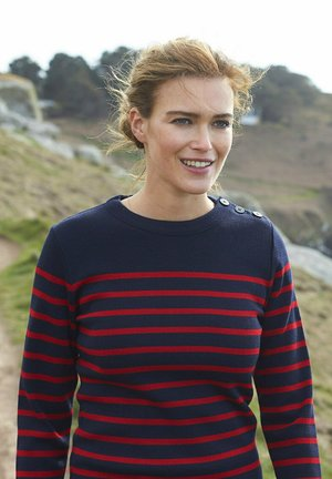 Long sleeved top - rich navy/braise
