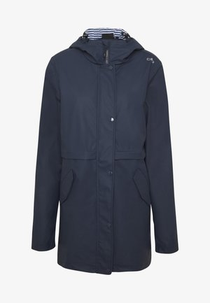 RAIN JACKET FIX HOOD - Outdoorová bunda - black blue