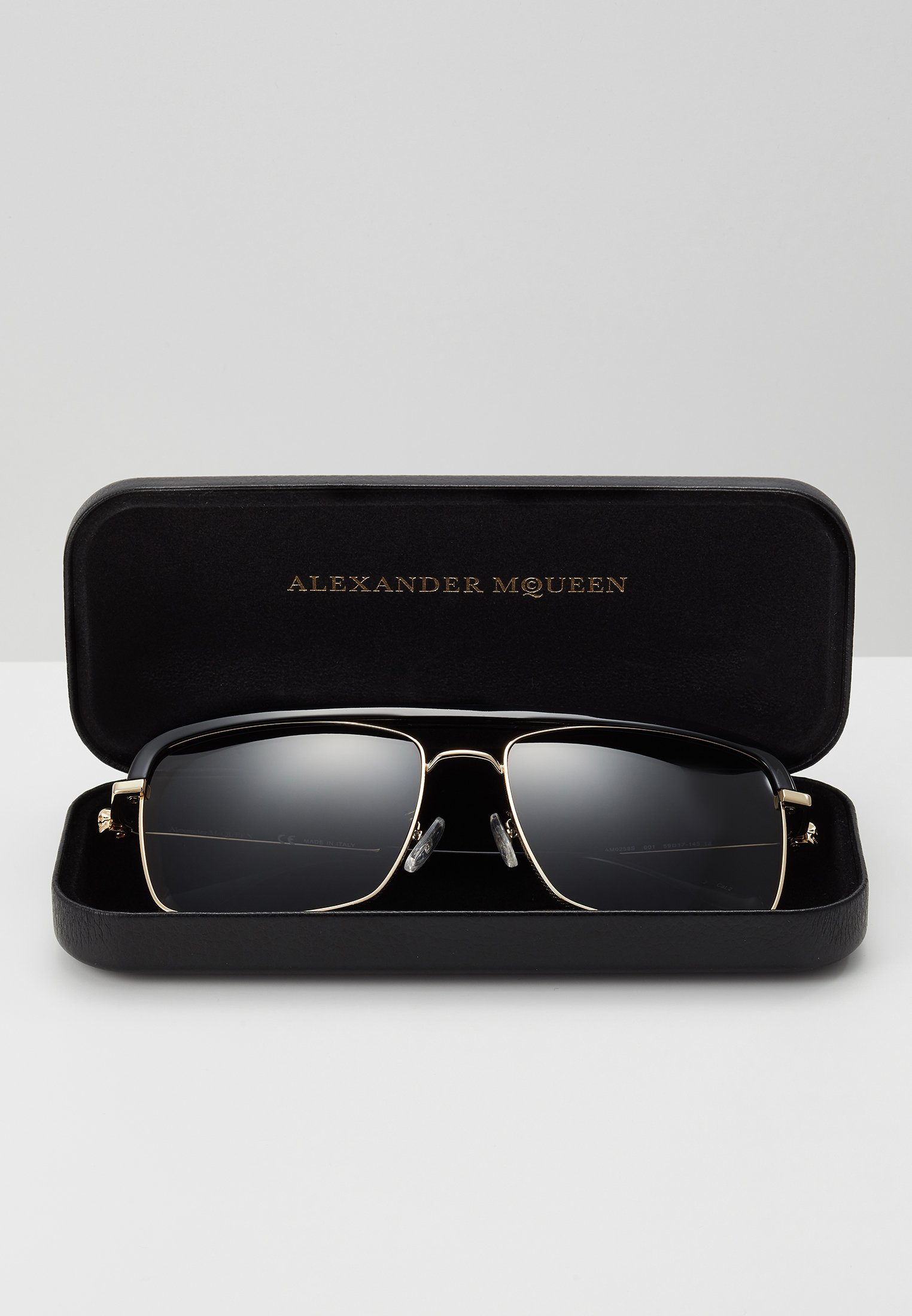 Alexander McQueen SUNGLASS MAN - Solbriller - gold-coloured/grey/gull Rhqeh0LNdbFBwnP